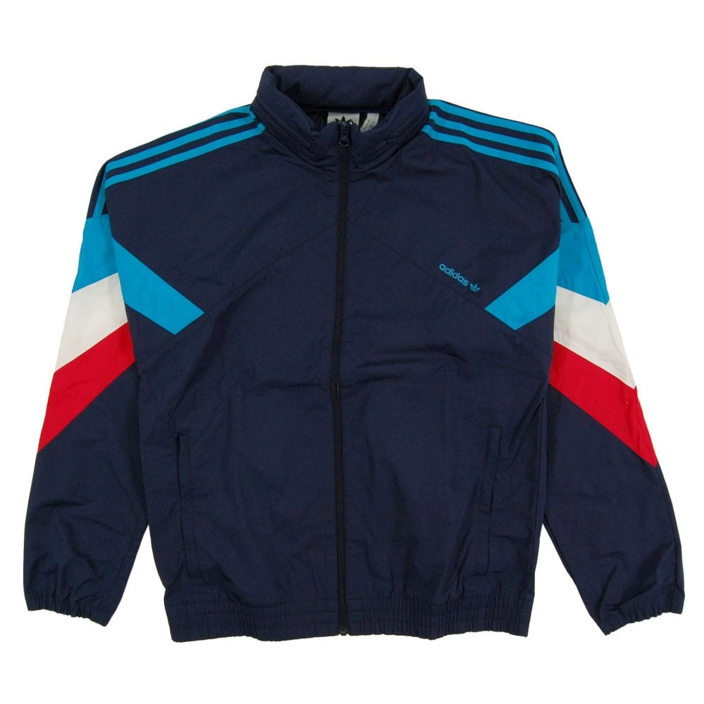 Adidas Originals Palmeston Windbreaker Jacket Collegiate Navy Bold Aqua
