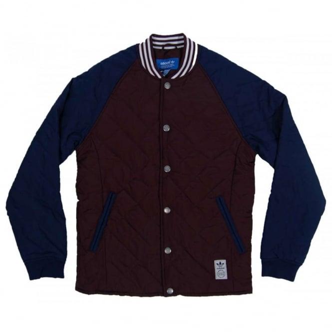 accb14e3 Adidas Originals Quilted Superstar Jacket Night Red Collegiate Navy ...