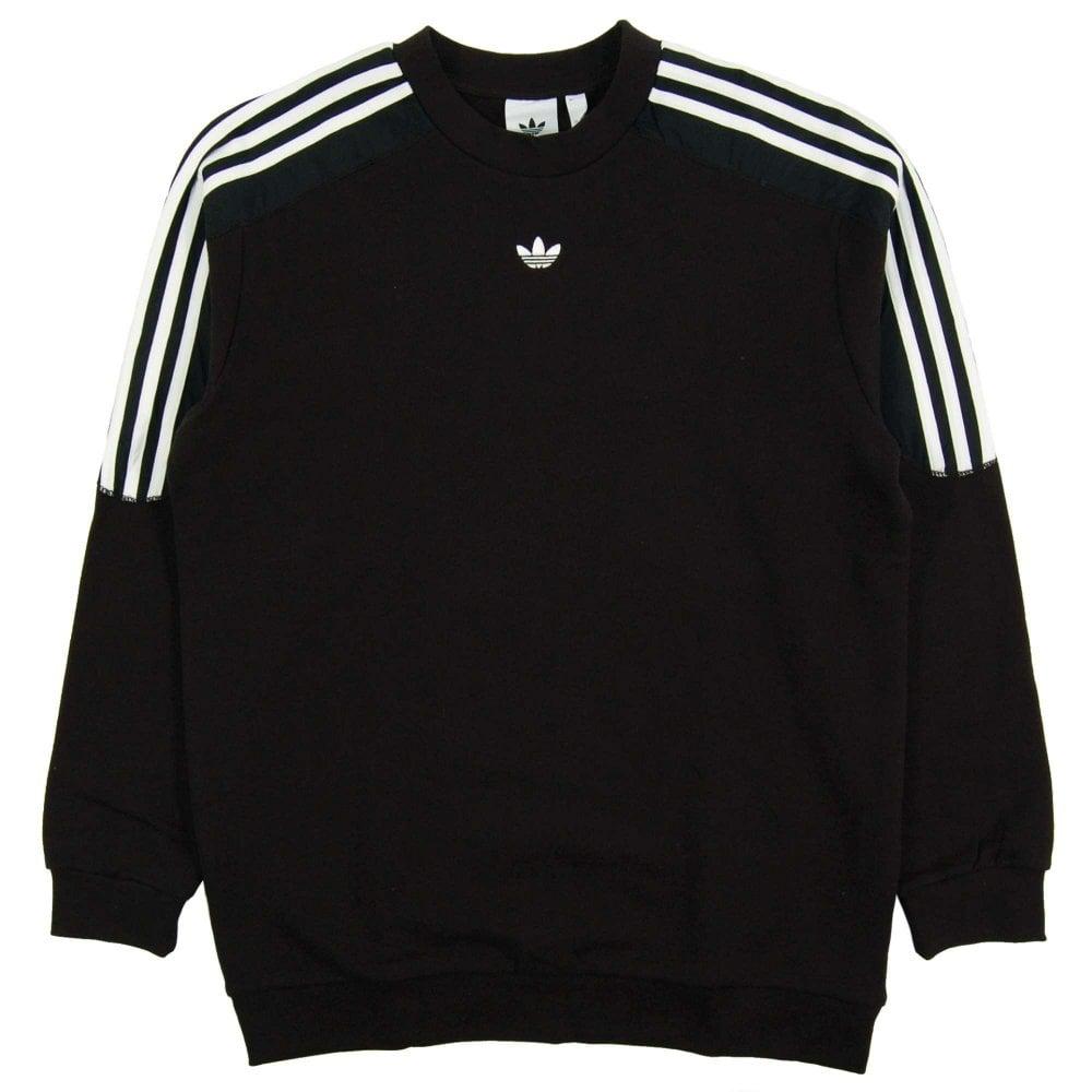 73f79084a9a Adidas Originals Radkin Crewneck Sweat Black - Mens Clothing from ...