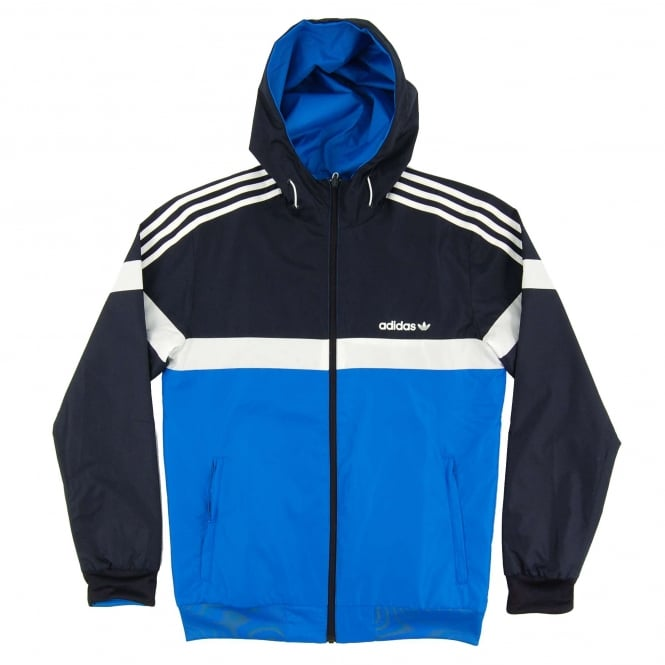 Adidas Originals Reversible Windbreaker Jacket Legend Ink Bluebird