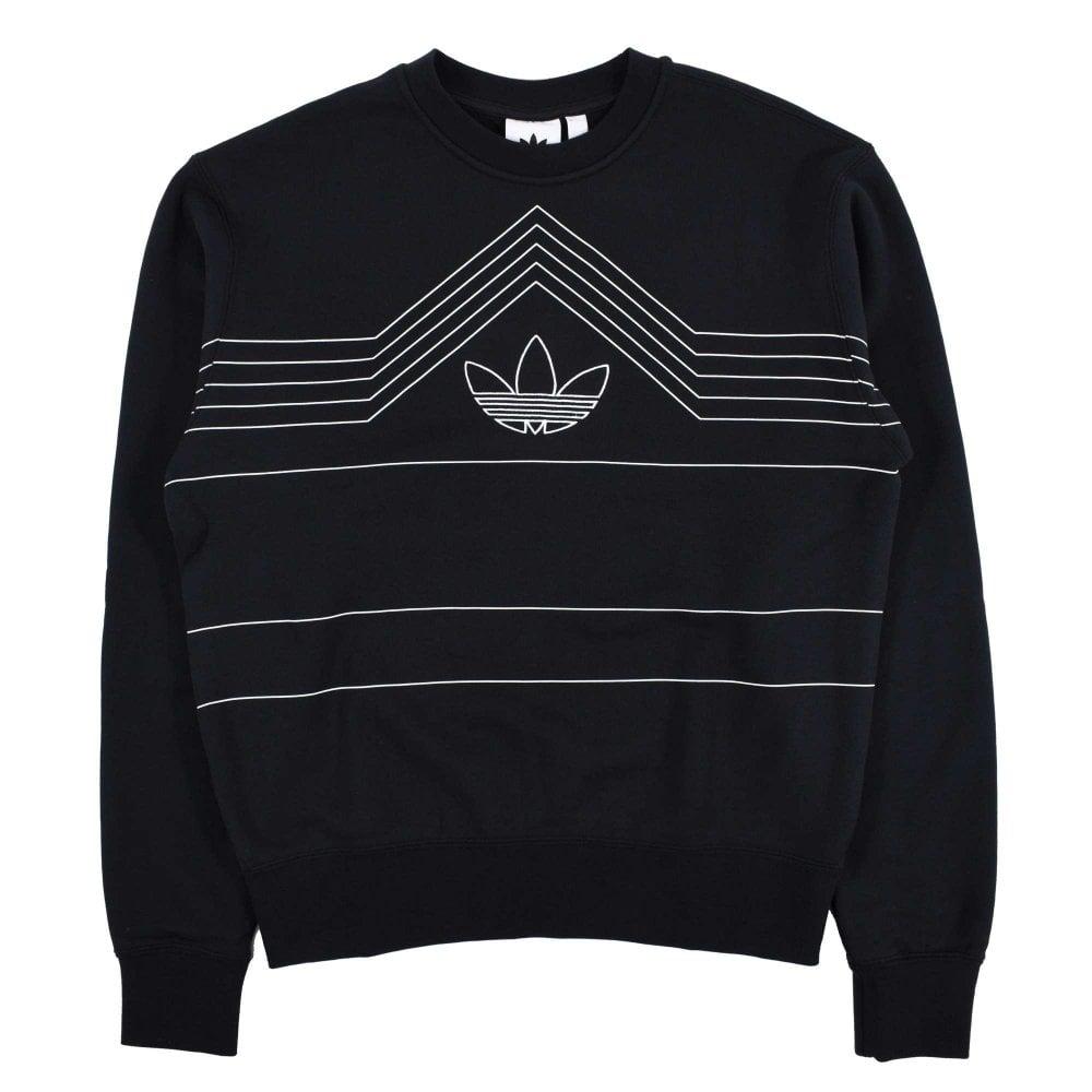 Adidas Originals Rivalry Crew Sweat Black White