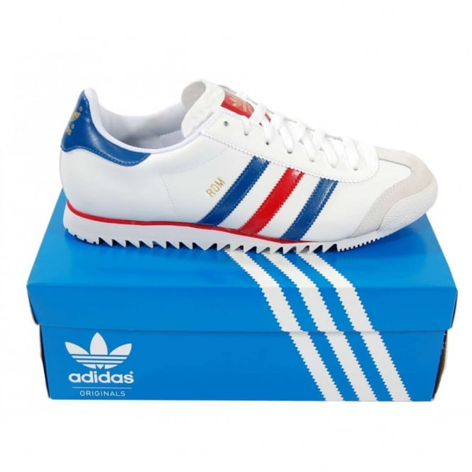 Adidas Originals Rom White Red Blue Mens Clothing From