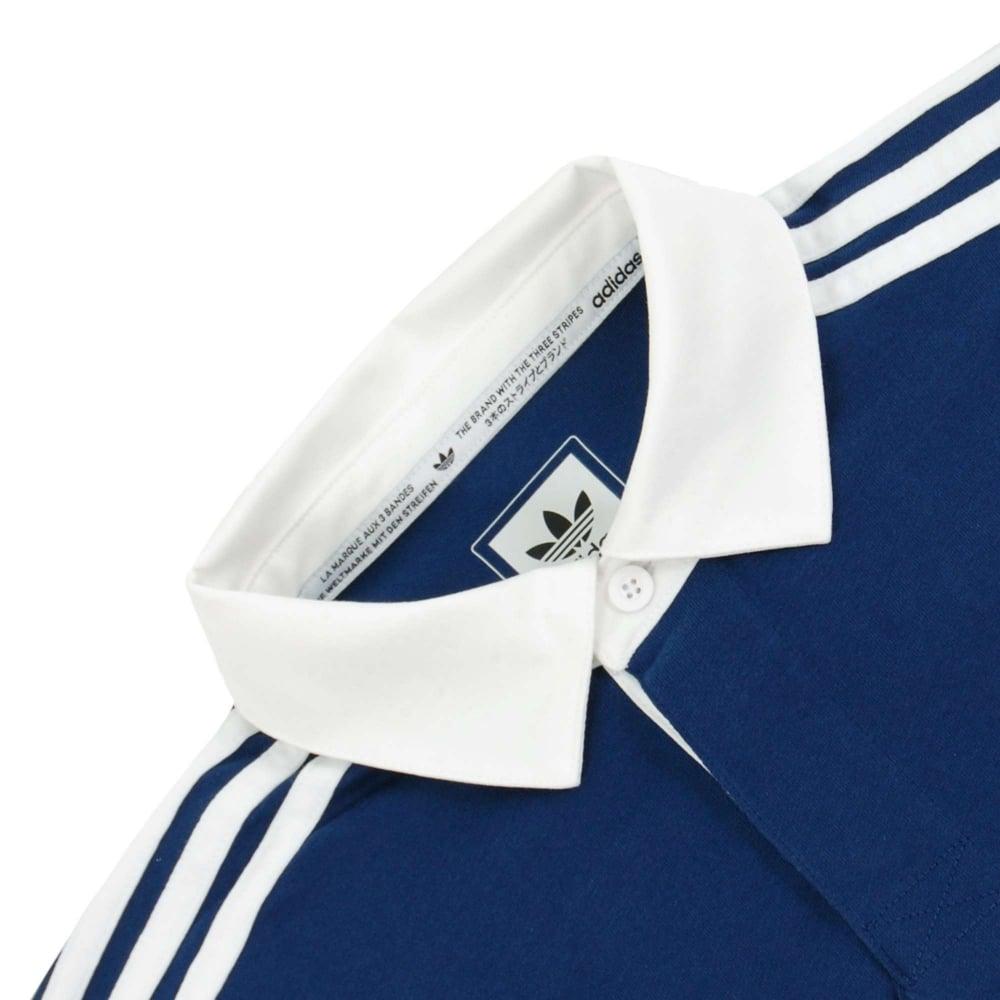 ca4477e9a Adidas Originals Rugby Nautical Polo Mystery Red Mystery Blue Grey ...