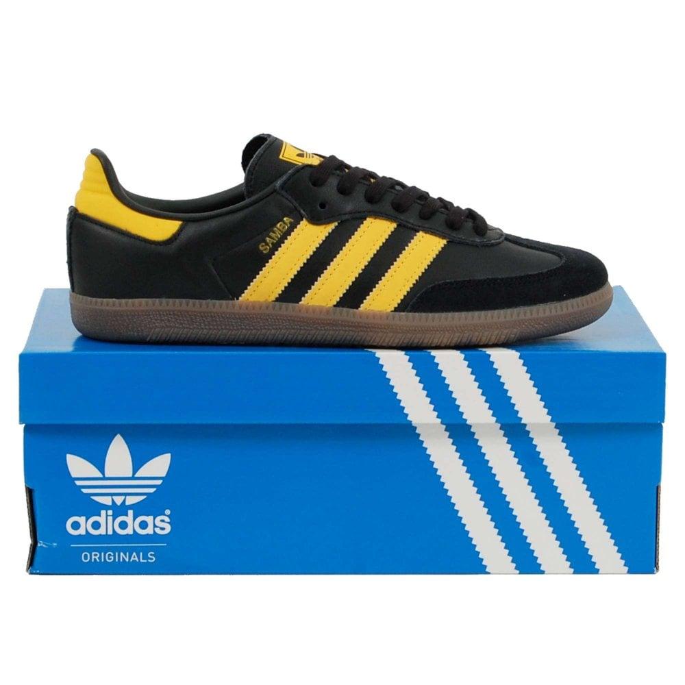 bbc1391ea Adidas Originals Samba OG Core Black Bold Gold Gold Metallic - Mens ...