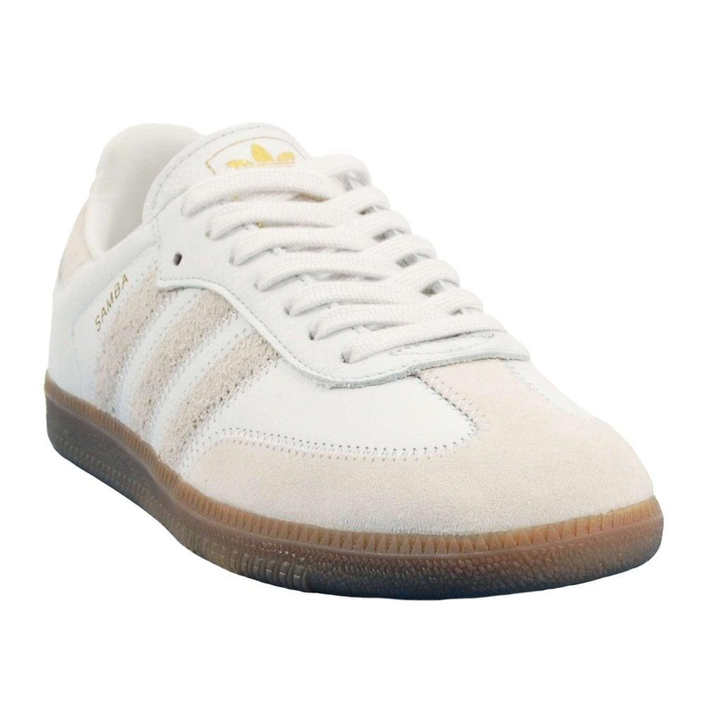 523ff8751 Adidas Originals Samba OG FT Crystal White Raw White Gum Gold ...