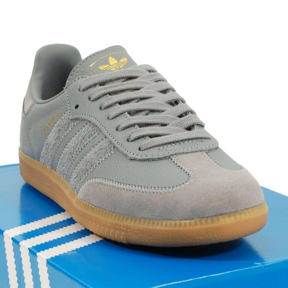 90b9d13fd Adidas Originals Samba OG FT Grey Three Gum Gold Metallic - Mens ...