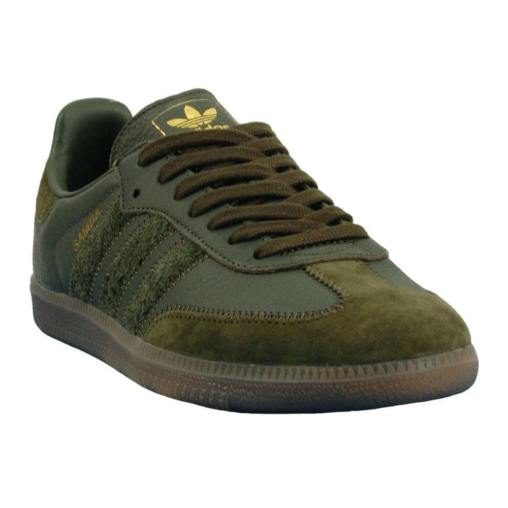 78f2d3c7ac6ffe Adidas Originals Samba OG FT Night Cargo Gum Gold Metallic - Mens ...
