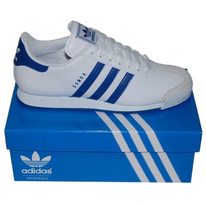 9b3399a5151 Adidas Originals Samoa White Blue - Mens Clothing from Attic Clothing UK