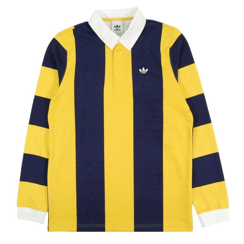 on sale 0f21b 4b8cb Adidas Originals Samstag Rugby Jersey Night Indigo Tribe Yellow
