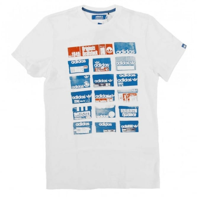 Details about ADIDAS SHOE BOX TEE WHITE T SHIRT Z73616 LARGE