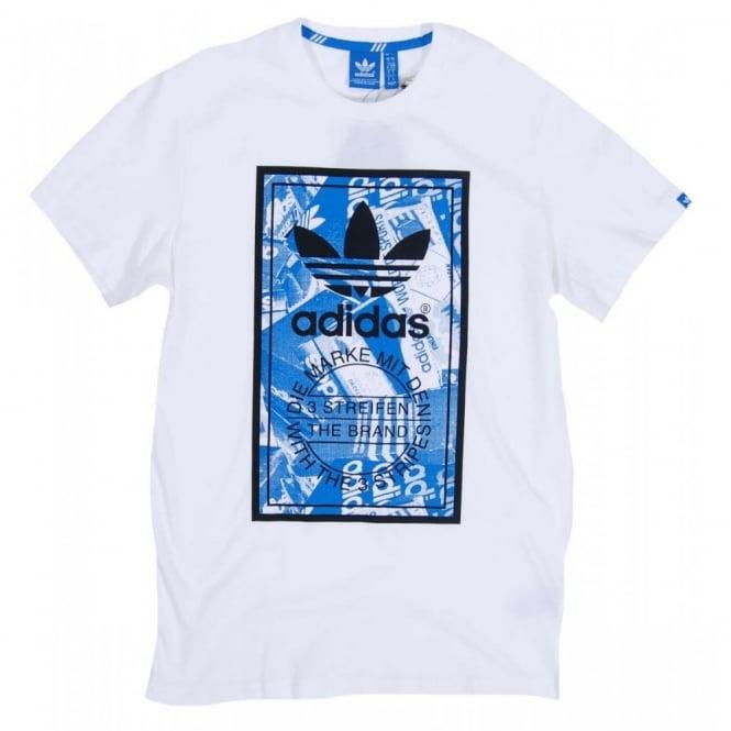 Adidas Originals Shoebox Label T Shirt White Mens