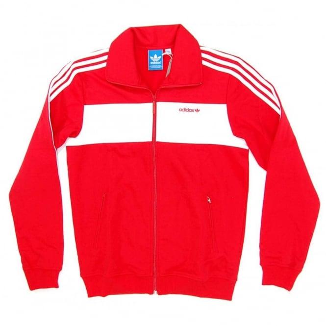 Adidas Originals SPO Beckenbauer Track Top Light Scarlet White ... 0ae71ab22