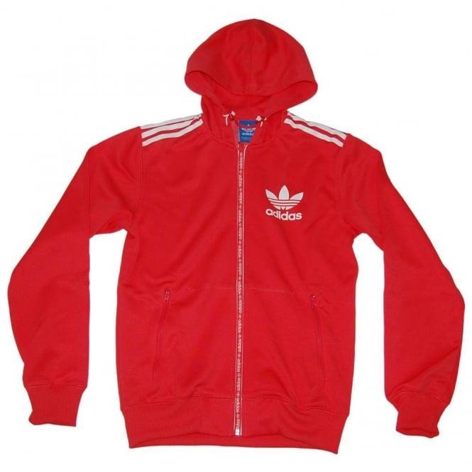 Adidas Originals SPO Hooded Flock Tech Aero Red - Mens Clothing from ... e07be68d4