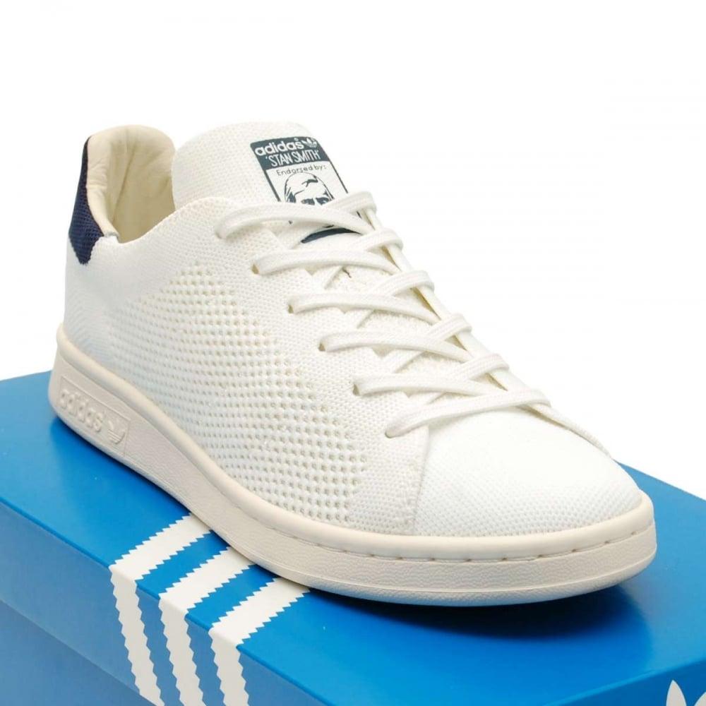 new concept 65b1d a22f6 Adidas Originals Stan Smith OG Prime Knit White Navy