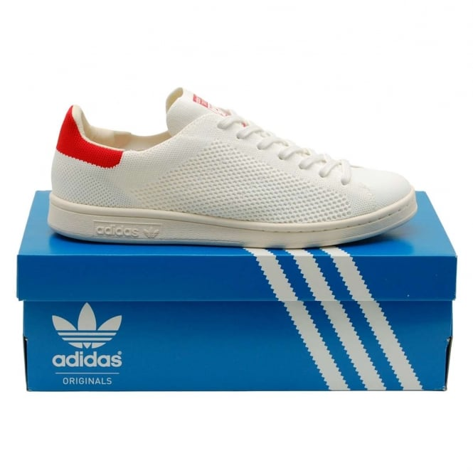 Adidas Originals Stan Smith OG Prime Knit White Red