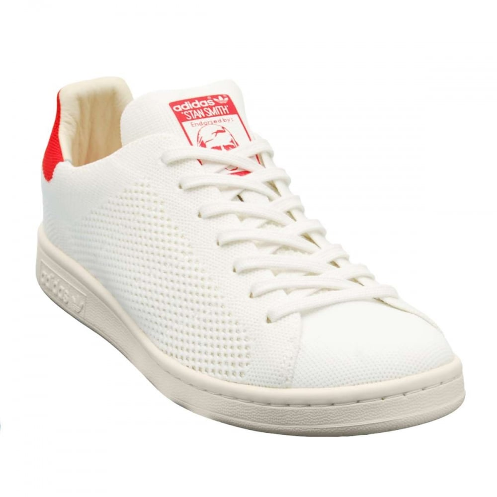 the latest d5ffb 4a0f3 Adidas Originals Stan Smith OG Prime Knit White Red