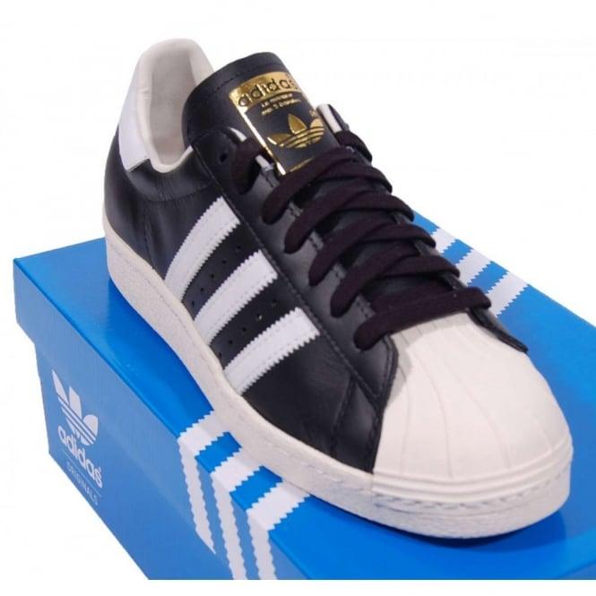 Adidas Originals Superstar 80s Black White Chalk - Mens Clothing ... c573321ba349