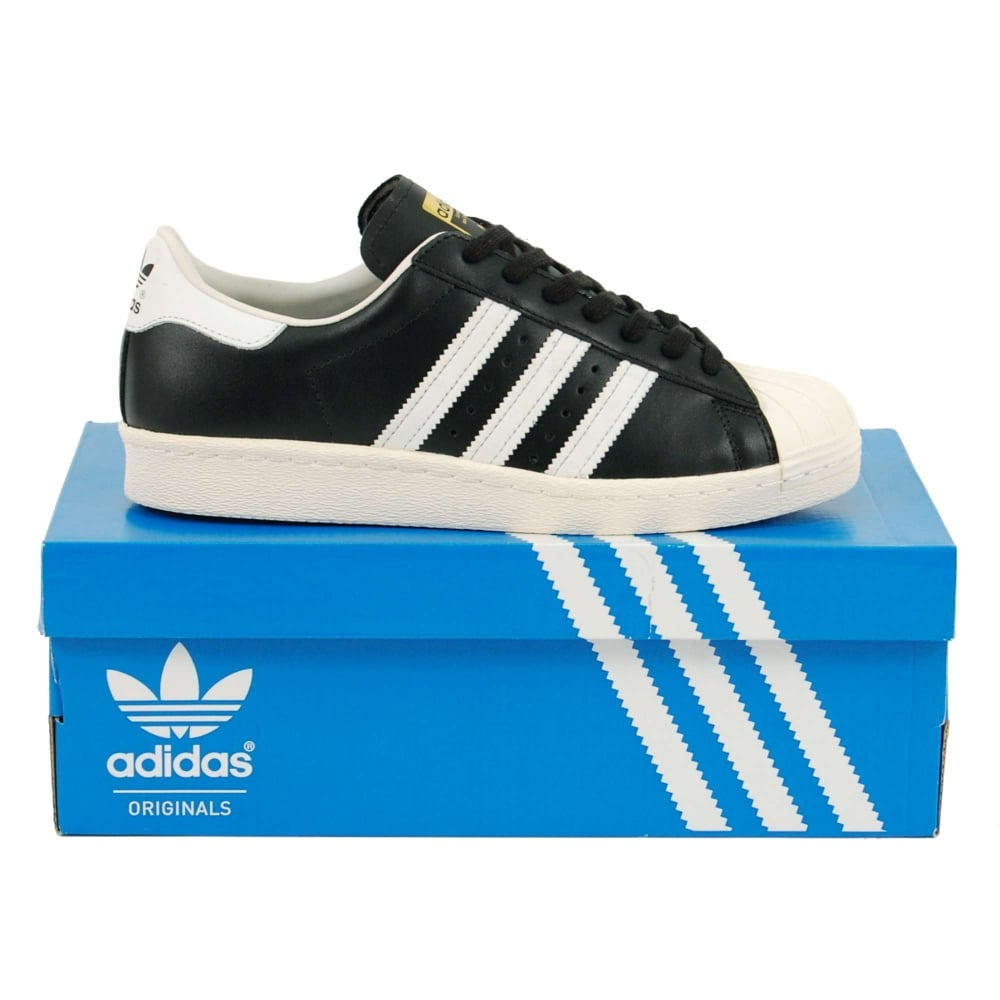Adidas Originals Superstar 80's Black White