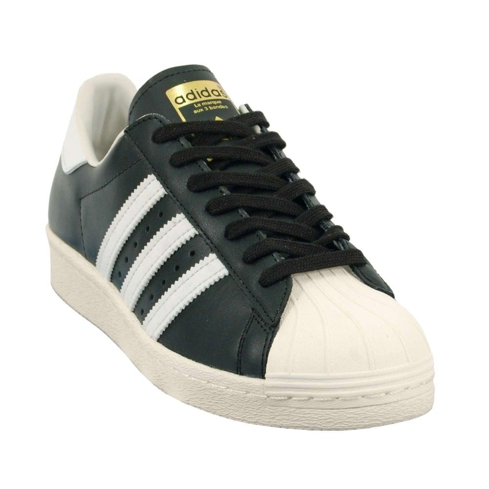 superstar 80s black white adidas