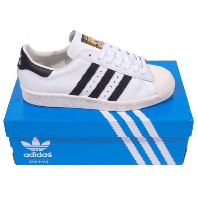 adidas superstar 80s white black chalk