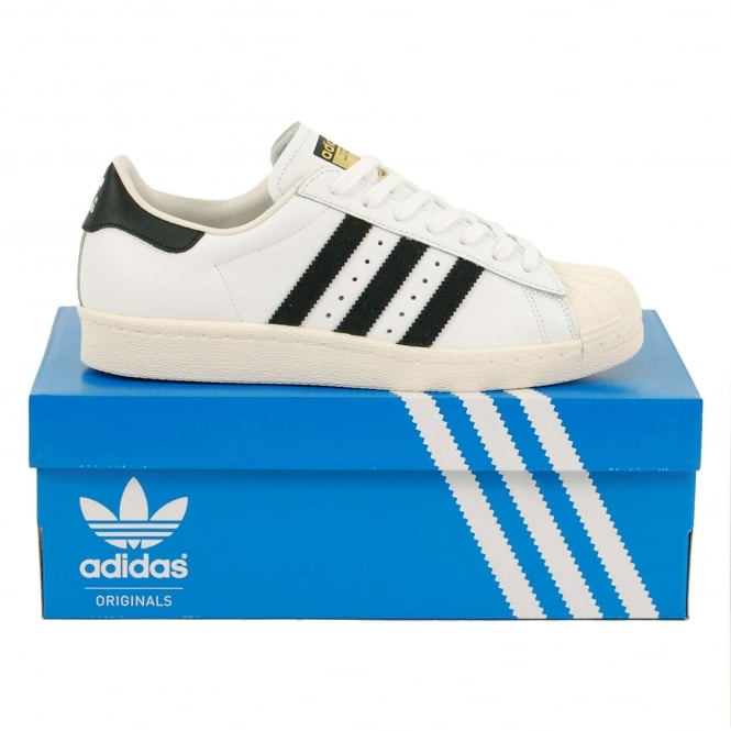 Adidas Originals Superstar 80's White Black
