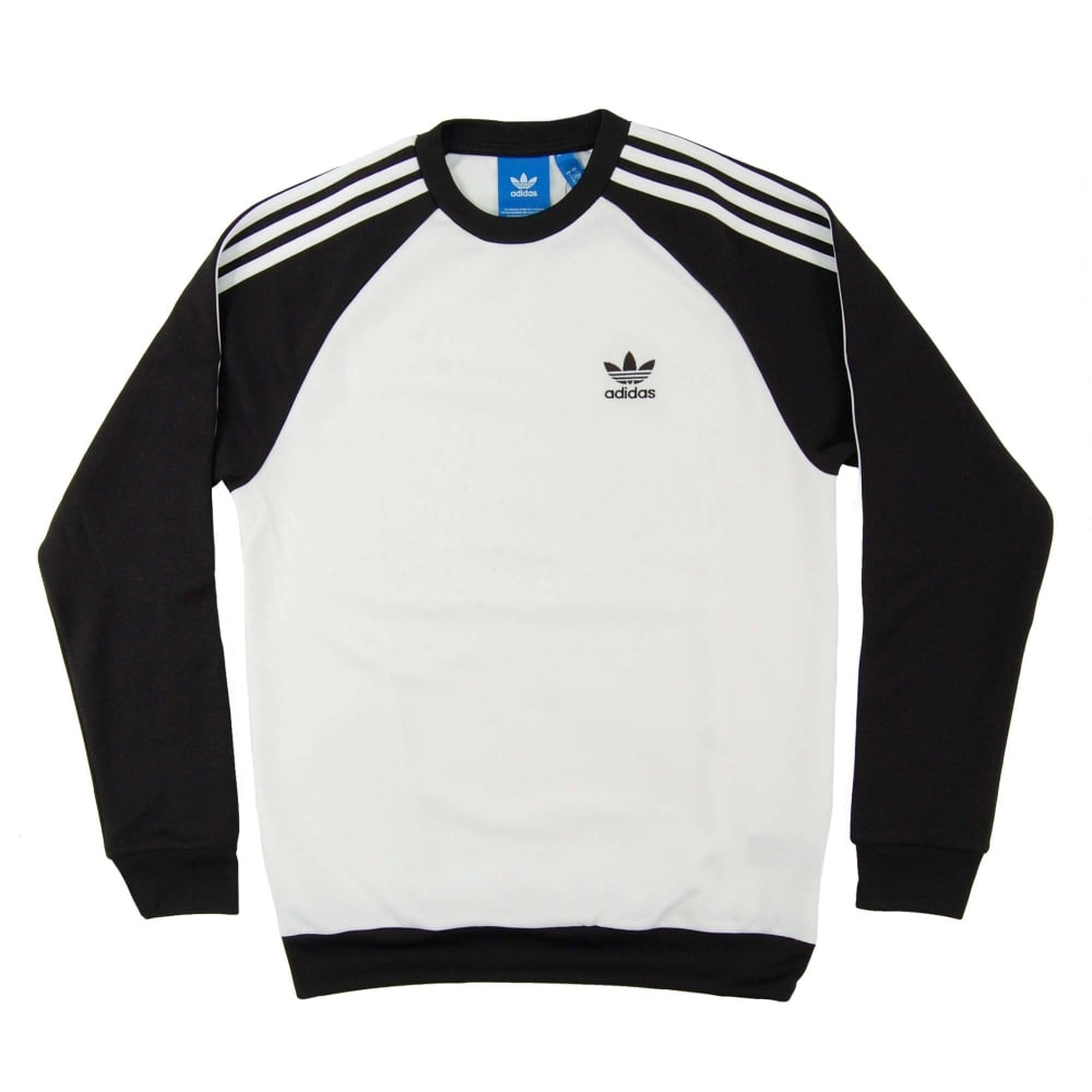 Adidas Originals Superstar Crew Sweat White Black