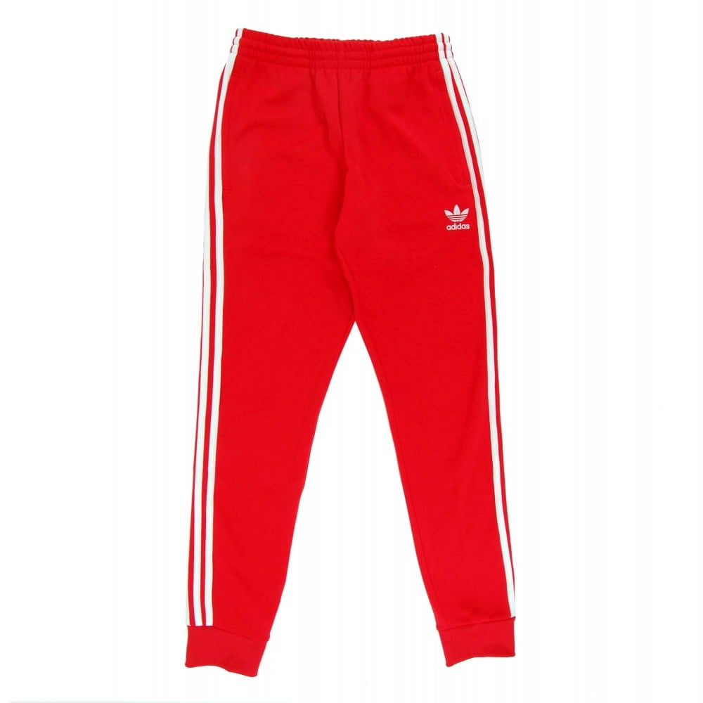 Adidas Originals Superstar Cuffed Track Pant Vivid Red Mens