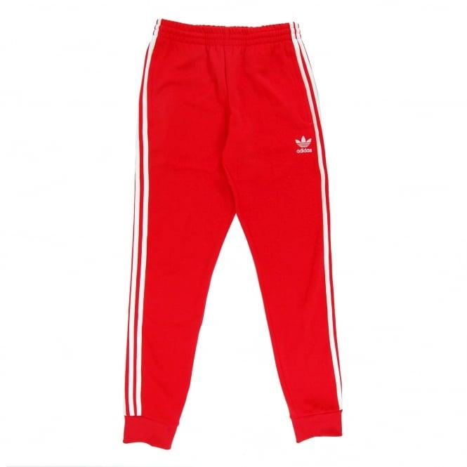8ed67ebb9 Adidas Originals Superstar Cuffed Track Pant Vivid Red - Mens ...