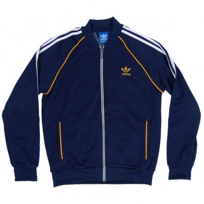 Adidas Originals Superstar Track Top Collegiate Navy Gold - Mens ... ce07c4440