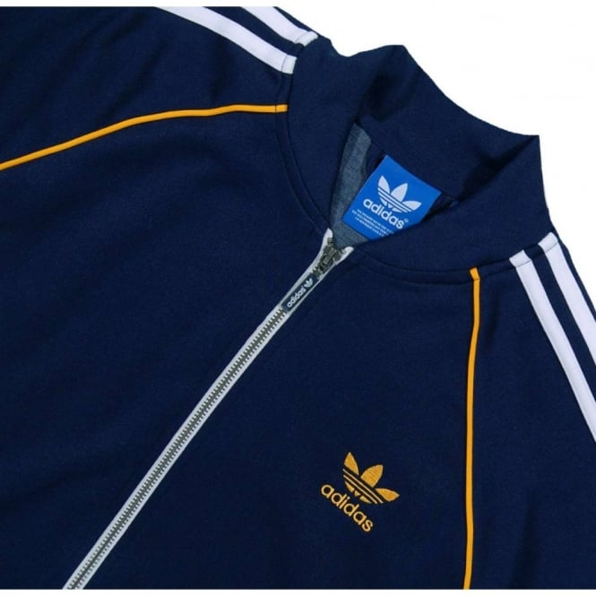 official photos 50892 988d5 adidas superstar track top collegiate navy .