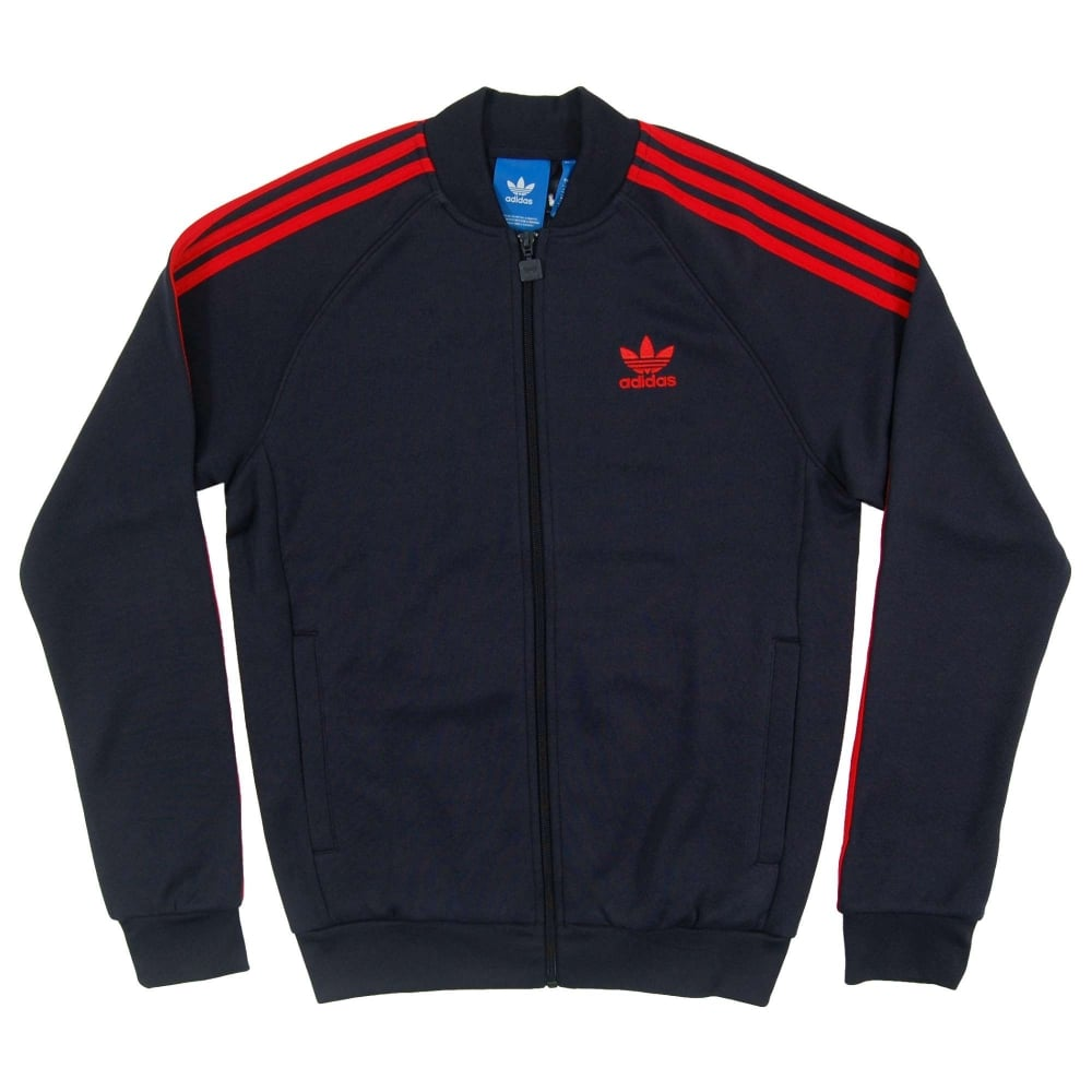 803510e306cf Adidas Originals Superstar Track Top Legend Ink Red - Mens Clothing ...
