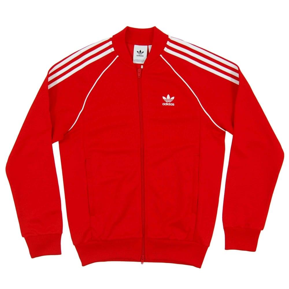 2ec4e7066b36 Adidas Originals Superstar Track Top Scarlet - Mens Clothing from ...