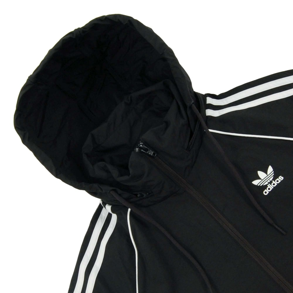 3323843c49e644 Adidas Originals Superstar Windbreaker Jacket Black - Mens Clothing ...