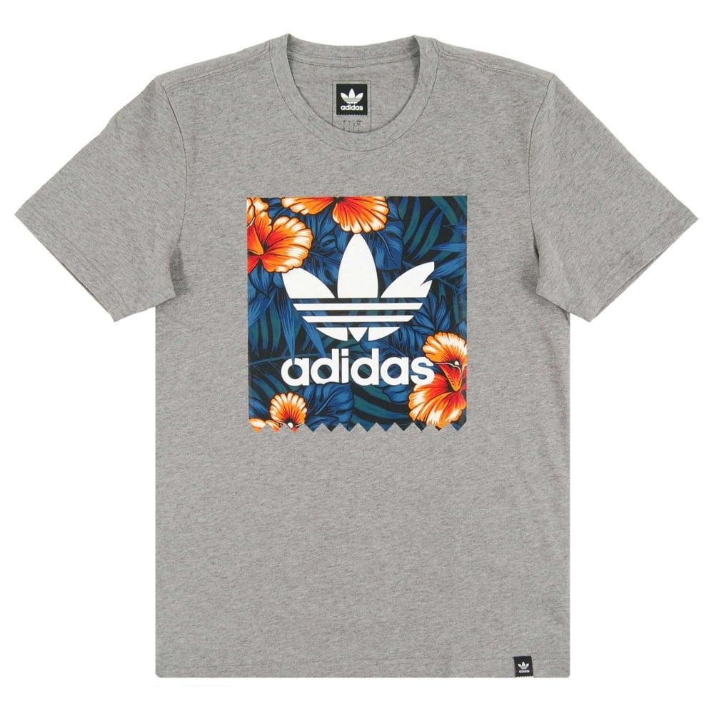 Adidas Originals Sweet Leaf Blackbird T Shirt Core Heather