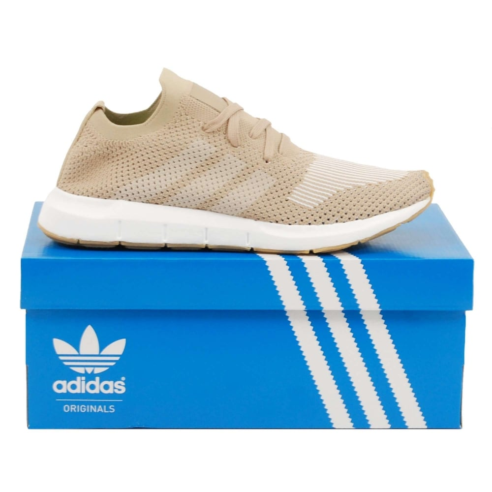 1472309a936 Adidas Originals Swift Run Prime Knit Raw Gold Off White Gum - Mens ...
