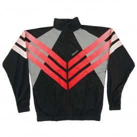 Tironti Track Jacket Black Grey Three Hi Res Red