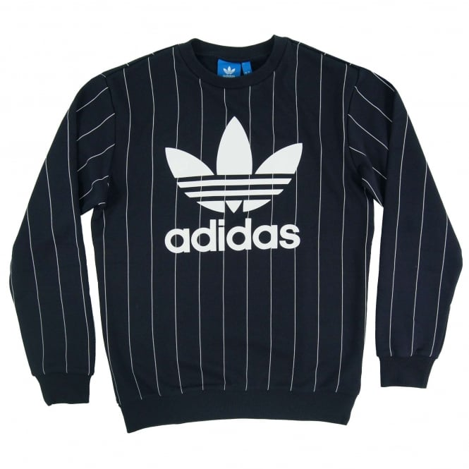 Adidas Originals TKO Pinstripes Crew Sweatshirt Legend Ink