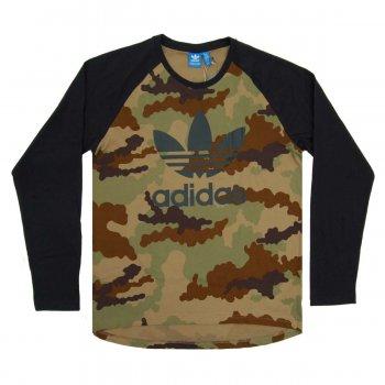 Adidas Originals Trefoil Camo Long Sleeve Hemp Mens