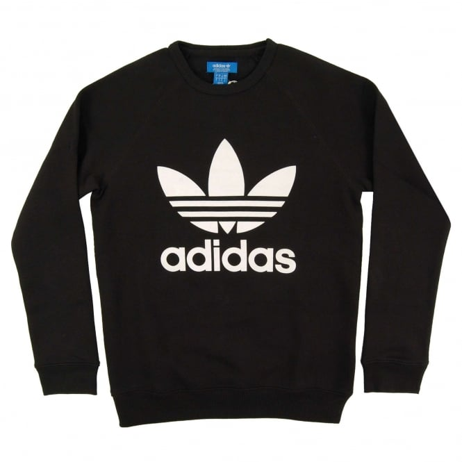 Adidas Originals Trefoil Crew Sweatshirt Black
