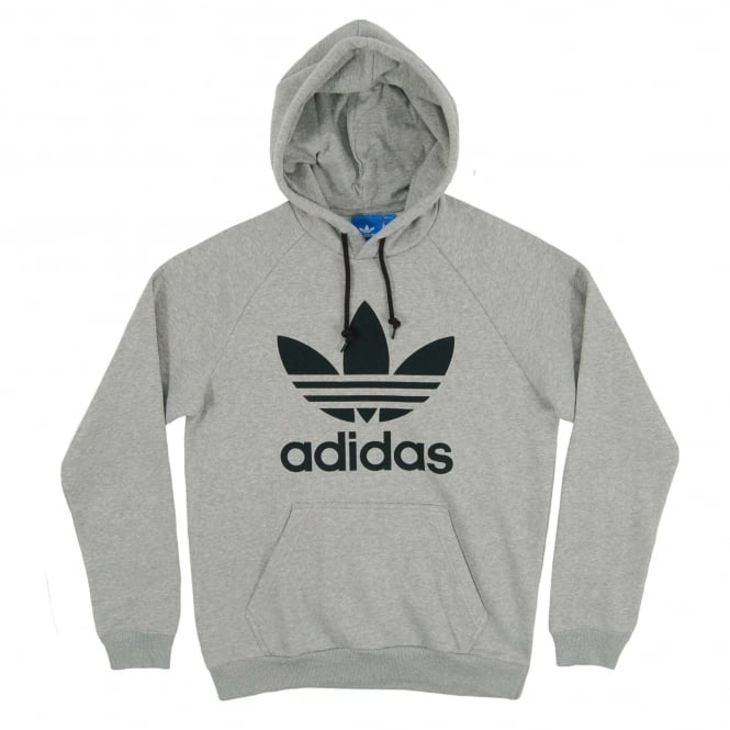 Adidas Originals Trefoil Hoody Medium Grey Heather