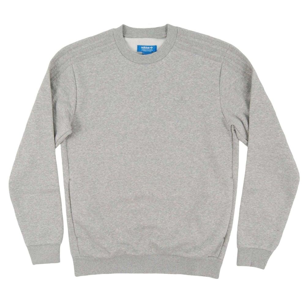 Series Sweatshirt Medium Adidas Originals Crew Trefoil Grey Heather sQdhrtCx