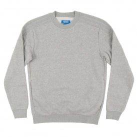 Trefoil Series Crew Sweatshirt Medium Grey Heather