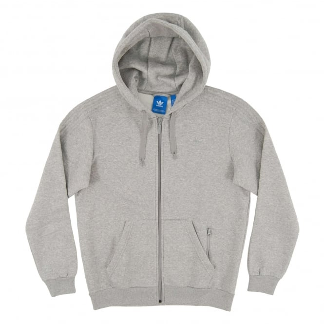Adidas Originals Trefoil Series Zip Hoody Medium Grey Heather