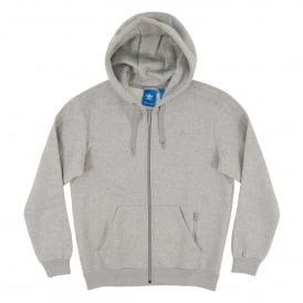 Trefoil Series Zip Hoody Medium Grey Heather