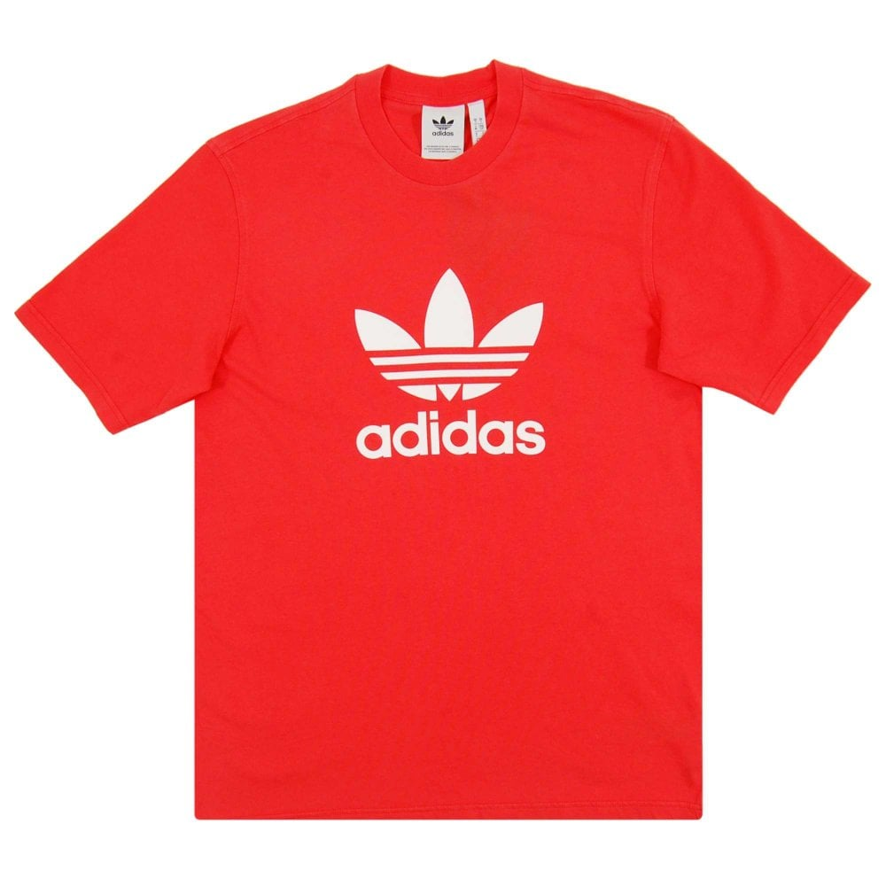 3616d5253087 Adidas Originals Trefoil T-Shirt Bright Red - Mens Clothing from ...