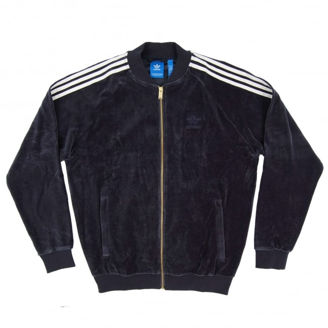 Adidas Originals Velour Superstar Track Top Legend Ink