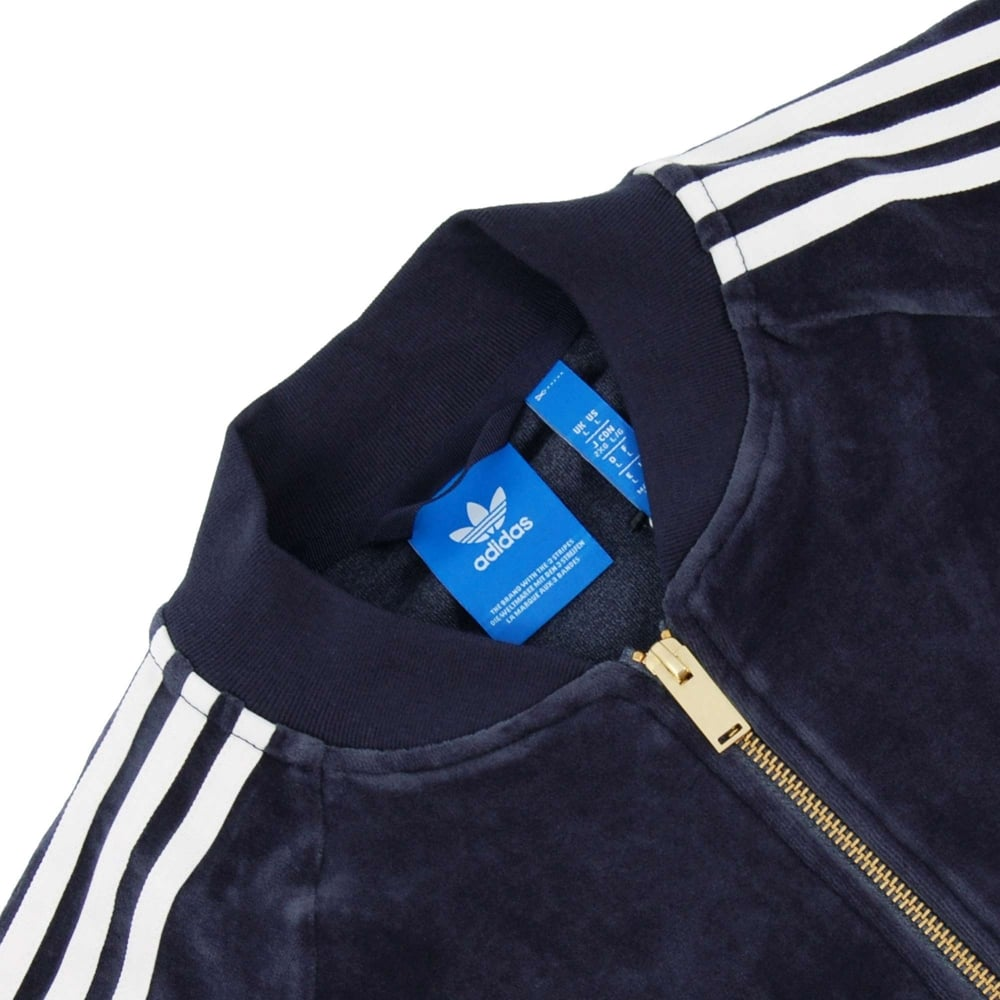 Velour Superstar Track Top Legend Ink