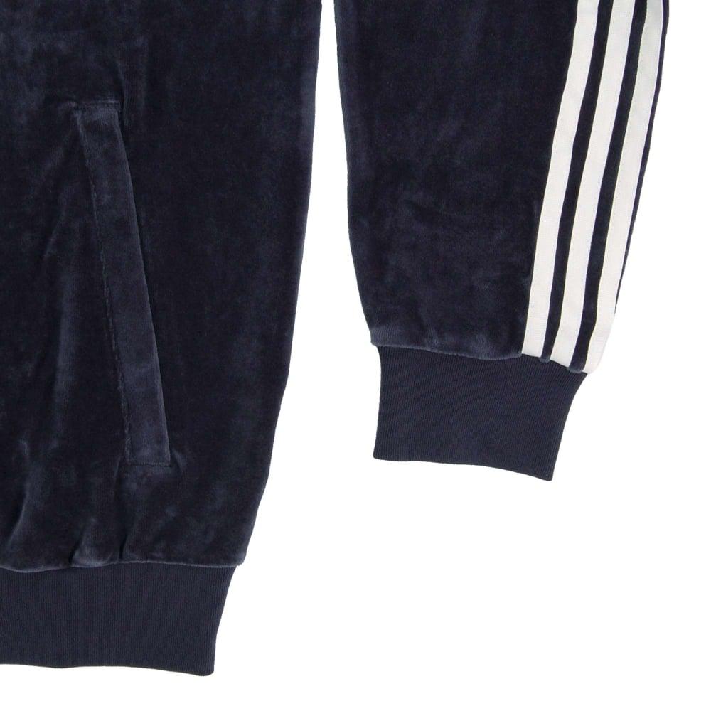 Adidas Originals Velour Superstar Track Top Legend Ink