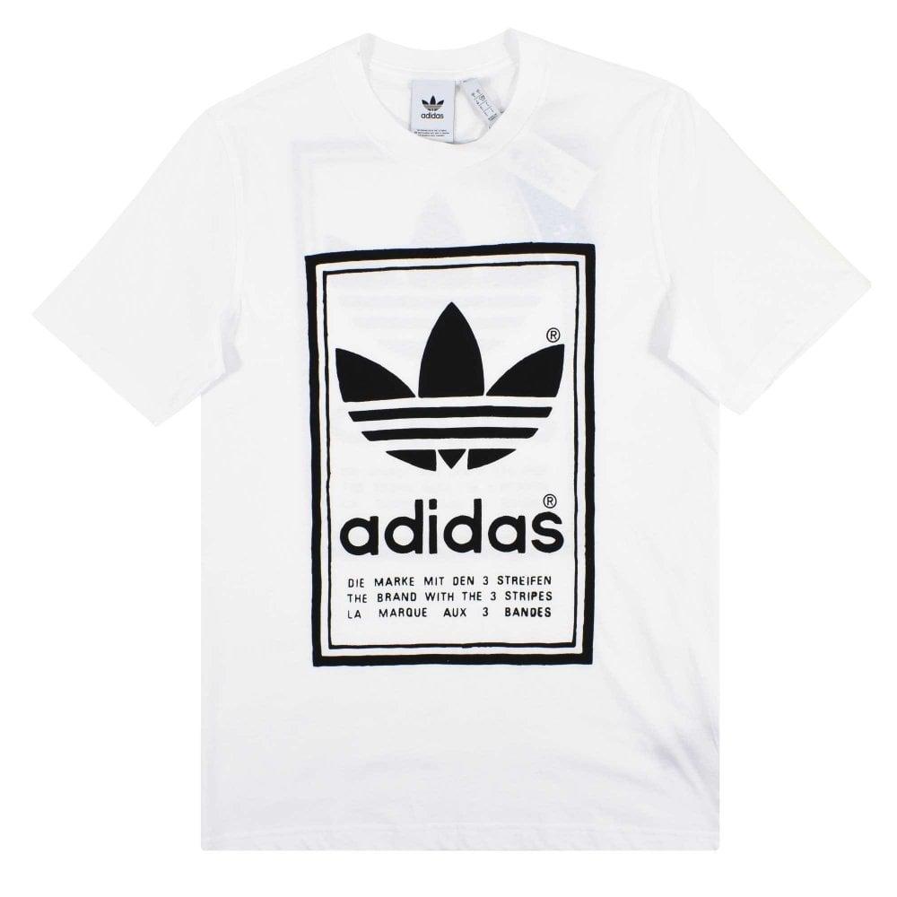 prima qualità prezzi nuovi prodotti per Adidas Originals Vintage T-Shirt White Black - Mens Clothing from ...