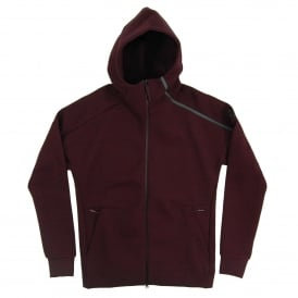 ZNE Storm Heathered Hoody Dark Burgundy